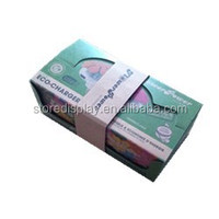Flexo printing with Glossy Oil cardboard display box with cover for products
