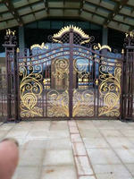 China Shanghai top quality wrought iron gates for driveways hc-23