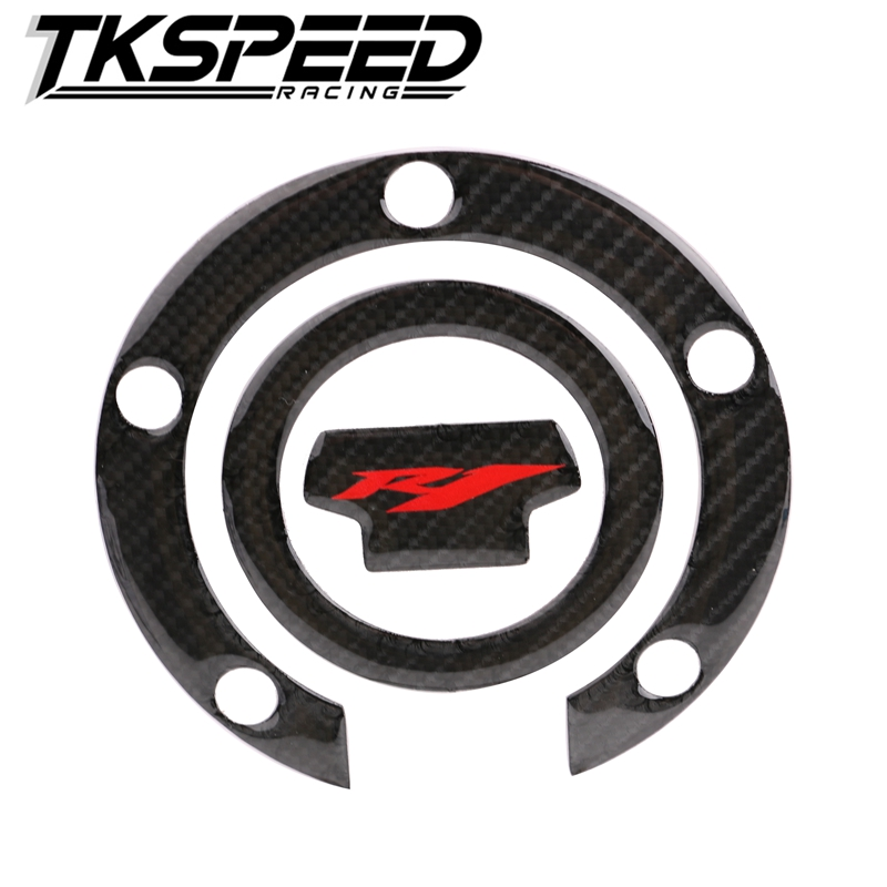 <strong>K</strong>-SHARPMOTOR <strong>K</strong>-CGTCP-23 3D Carbon Fiber Tank Gas Cap Pad Filler Cover Sticker Decals Fit MOTOR YZF-R1