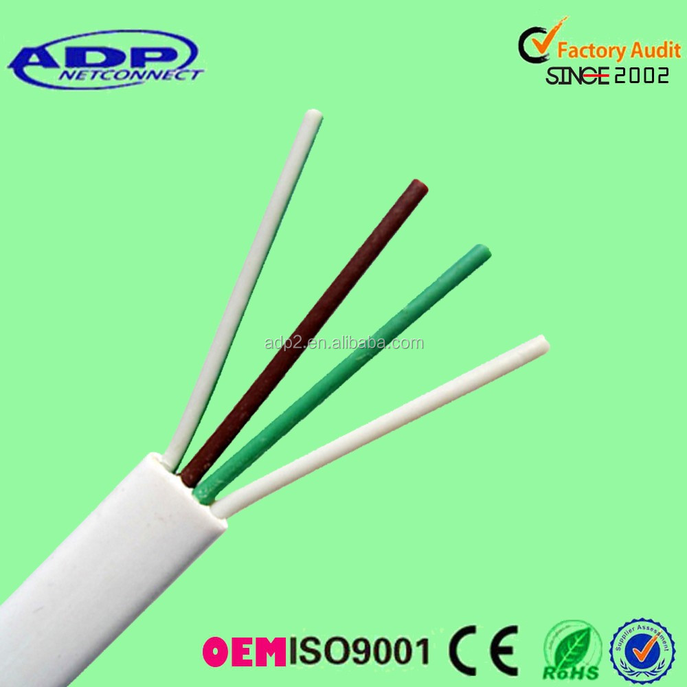 CE approved 2pair 23awg 24awg Flat telephone cable