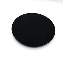 4pcs in one lot black bamboo fiber plate matte color degradable plates