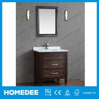 High Quality Waterproof Bathroom Vanity Unit With Marble Top