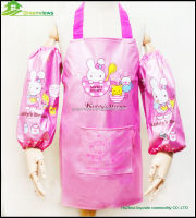 Wholesale PVC/Plastic Kids Kitchen Apron/Cooking Apron with sleeves Kids Cotton Bib Apron GVJMX15