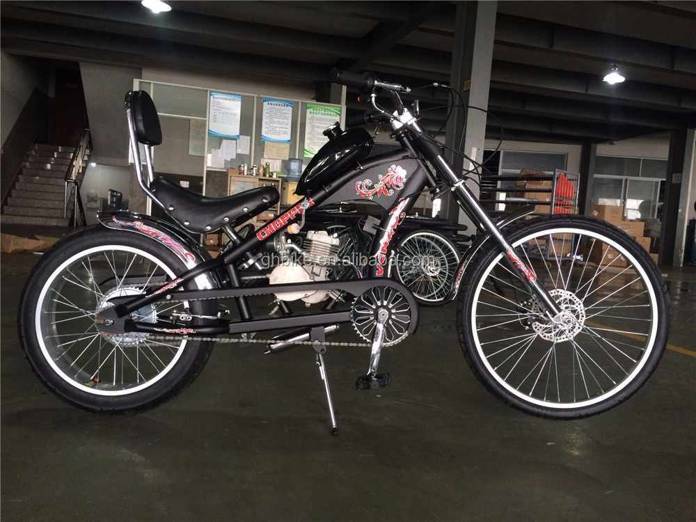 Beach Cruiser Gas Motorized Bicycle With 2 Stroke 48cc