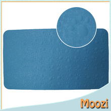 animal footprint rubber bath mat with suction cups blue