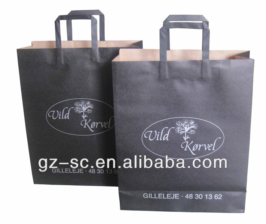 Brown kraft paper bag for fashion dress