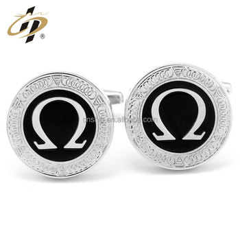 Custom 16mm silver plated metal copper cufflinks for suit