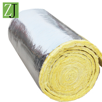 Fireproof roof thermal insulation glass wool blanket material with aluminum foil covered