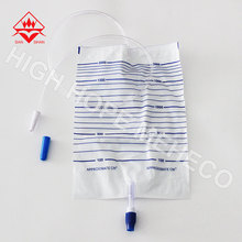CE FDA ISO approved portable 500ml 1500ml 2000ml disposable urine bag for adult