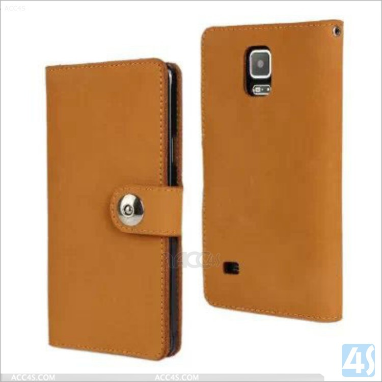 wallet leather case for samsung galaxy note 4,crown pouch mobile phone case for galaxy Note 4