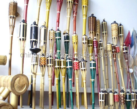 2016 bamboo crafts torch for holidays the torch festival /bamboo torch citronella candle/colorfull bamboo torch