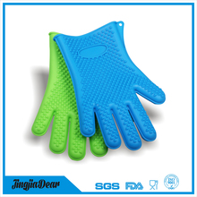 non-stick silicone waterproof barbecue grill gloves /heat resistant bulk cotton gloves