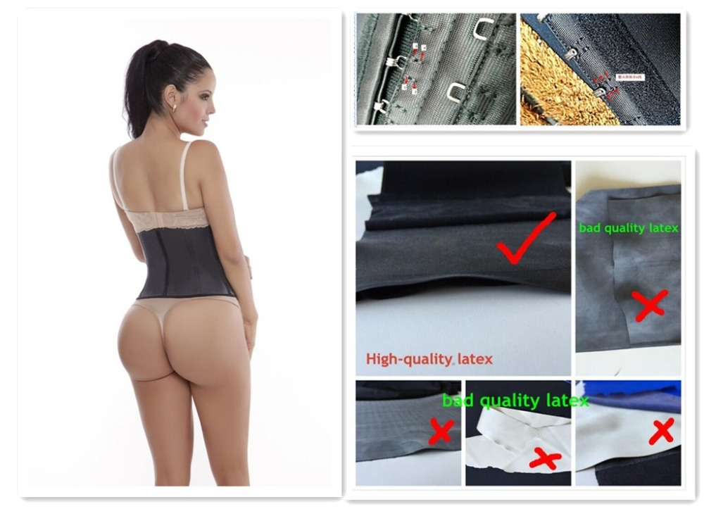 accept Paypal 9pcs steel bone extra sew in 2 side hook latex waist body shaper with hanger package
