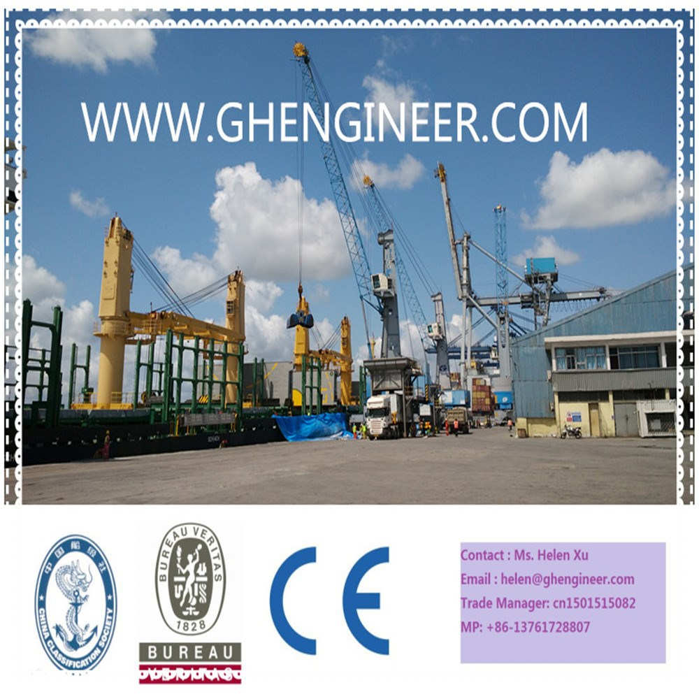 Hydraulic Heavy Port Deck Marine Crane Rubber Tyred Mobile type