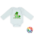 Birthday 1St St. Patrick's Day Green White Holiday Wear Baby Cotton Bodysuits Long Sleeves Baby Rompers