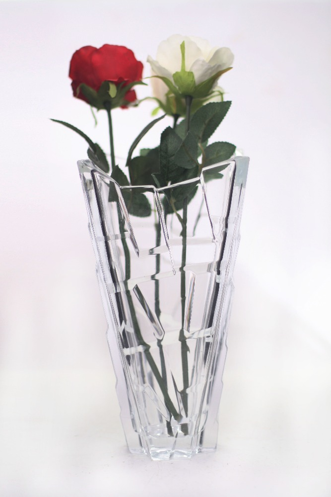 30cm Square Shaped Tall Wedding vases centerpieces table, glass vase wedding flower holder, European Style for Home Decoration