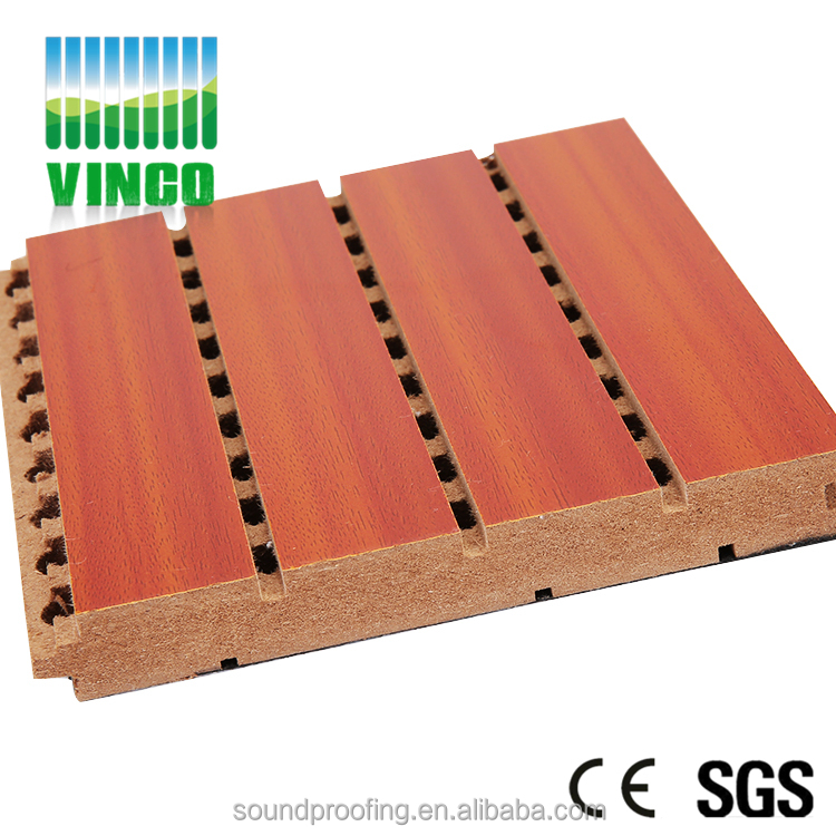 Floor Timber Decorative Material Insulation Wood Grooved Acoustic Panel