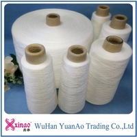 40/3 40/2 polyester spun yarns on paper cone for sewing raw white