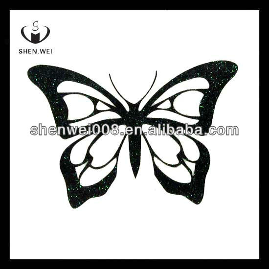 Beautiful butterfly flash body temporary glitter tattoo