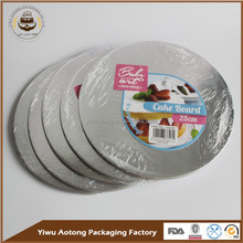 yiwu lowest price silver plain cardboard cake circles with shrink packing