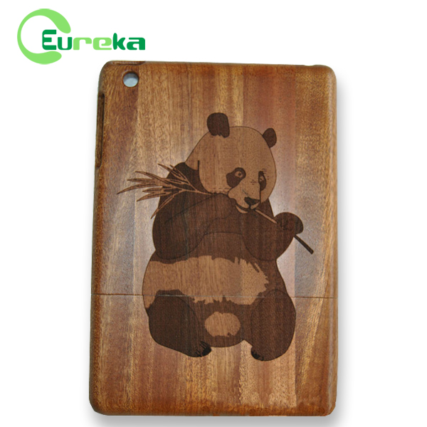 High quality engraved tablet phone case wood for Apple IPad mini