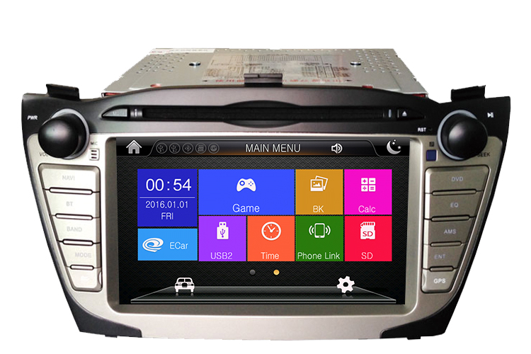 GPS Navigation OEM for IX35 with Rearview Camera Rideo Player