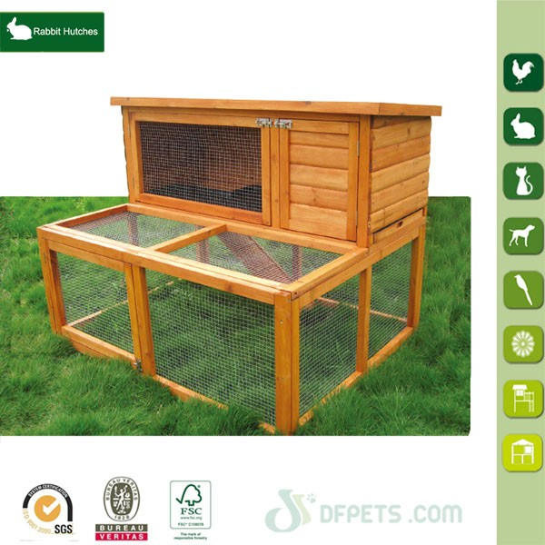 Wooden Rabbit Hutch Pet Animal Poultry Cage Run