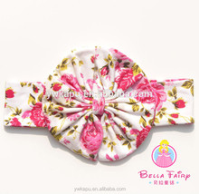 Wholesale headbands made in china girls hair bow funny headband,headband with fabric flower
