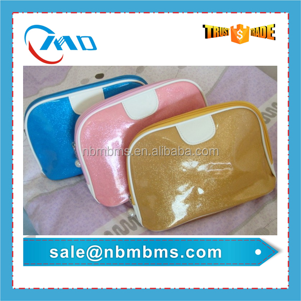 Top Fashion High Shiny Leather Cosmetic Bag