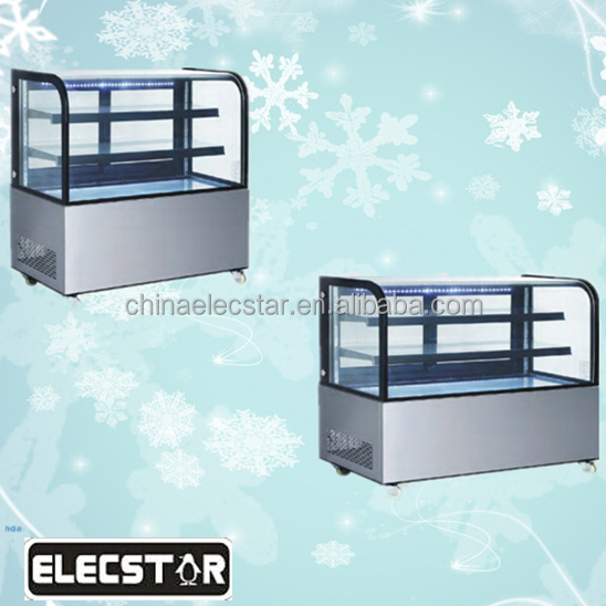 Table top cake display refrigerator cabinet, commercial showcase/refrigeration equipment