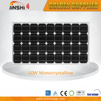 CE TUV certificated high efficiency 50w mono solar panel