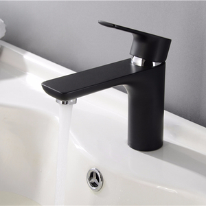 Single Handle Wash Mixers Black Faucets For Bathroom