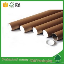 shipping tube packaging round box kraft paper mailing tube poster packaging tube plastic end cap