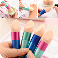 eye shadow hydrophilic polyurethane cosmetic sponge with handle powder puff
