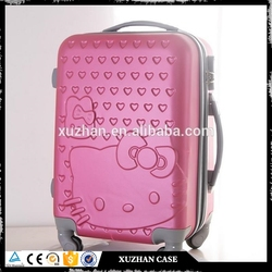 high quality cheap price Hello Kitty hard shell hot pink luggage sets 2016 new style design