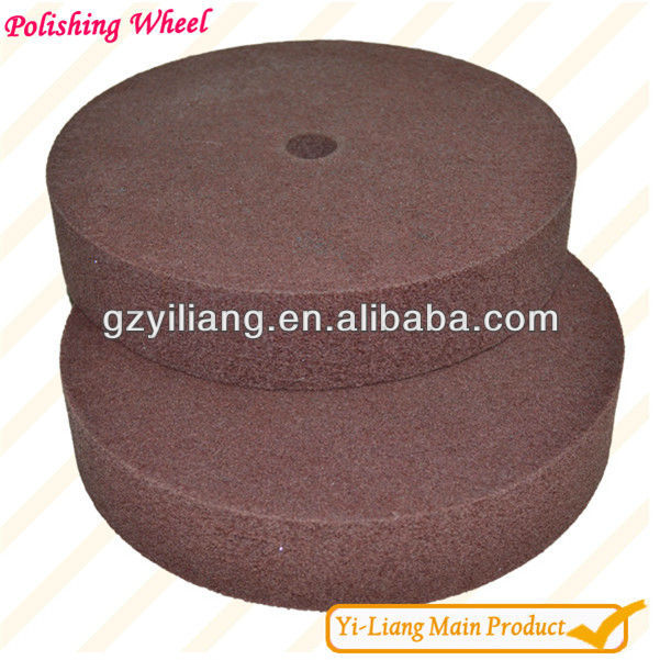 Textile polishing wheel to hardware surface lacquer
