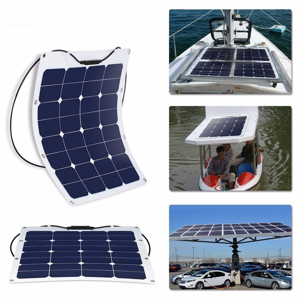most efficient flexible solar panel for Electric car boat plane
