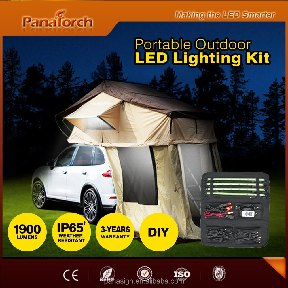 PanaTorch Wireless Remote Led Camping Bar Light PS-C5221B green/silver/golden aluminum profile For caravan