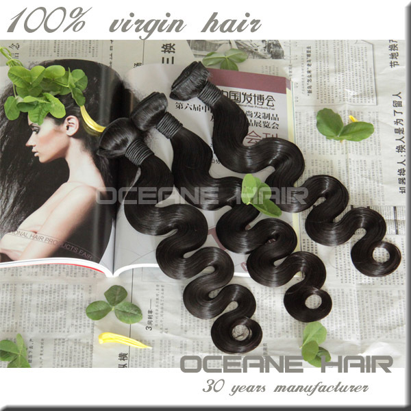 Double drawn machine quality grade 7a unprocessed brazilian virgin hair