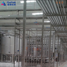 apple fruit juice automatic milk processing line in machinery