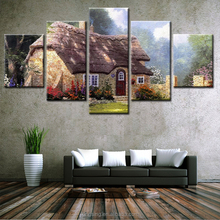 HD 5 Panel Little In The Forest Picture Painting Home Decor Canvas Prints For Living Room Modern Printing