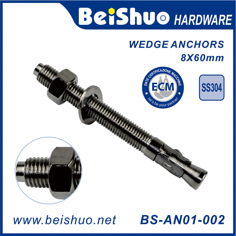 Concrete Steel Wedge Anchor Bolts Including Nuts & Washers