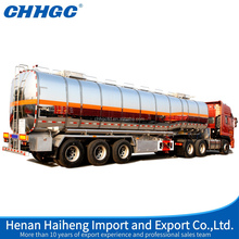 CHHGC 3 axles Powder Material & new fuel natural gas lng Tanker Truck Trailer , truck trailer spare parts