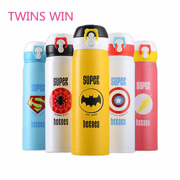 2019 New Cartoon characters design outdoor use insulated eco friendly stainless steel drink bottle for children CUP597B