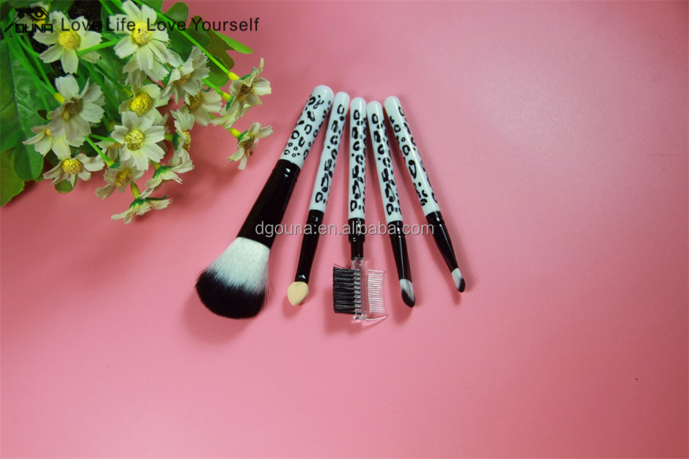 Best selling christmas products !short brushes/5pcs makeup brushes/Acrylic wool with big quantity free samples