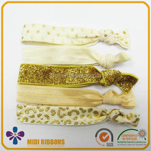 Fashion women girls Flat elastic hair ties/hair elastic band with foil printing