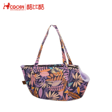 2018 new purple fleece pet carrier with flower pattern