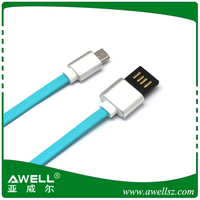 Reversible USB 2.0 micro usb male data sync fast charging cable for all android