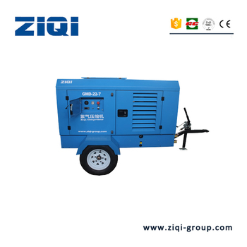 22kw 7bar Portable or stationary Diesel Engine Screw Air Compressor