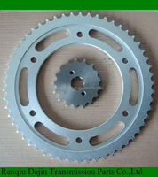 Dajin 1023 bajaj complete chain and sprocket/motorcycle parts chain sprocket/suzuki ax100 parts